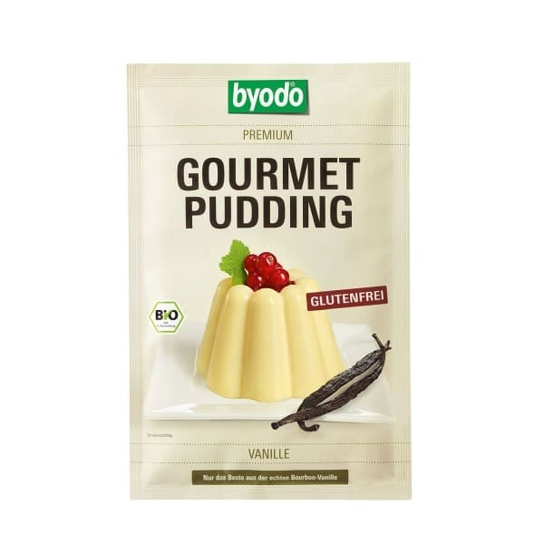 Byodo GOURMET PUDDING VANILLE, organic, 36g