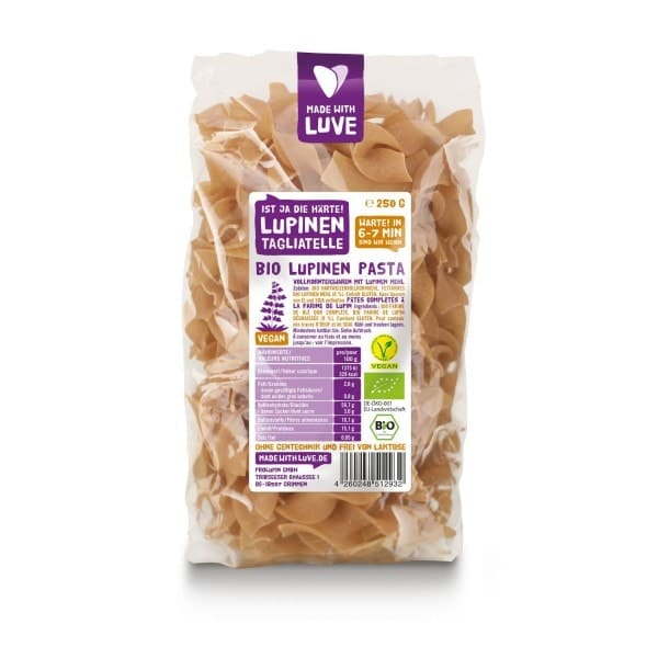 Made with Luve LUPINEN TAGLIATELLE, BIO, 250g
