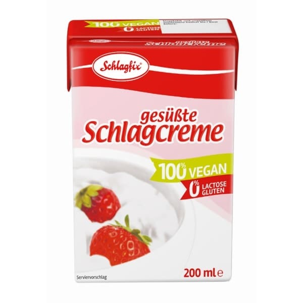 Schlagfix SWEETENED WHIPPING FROTH as tetrapack, 200ml