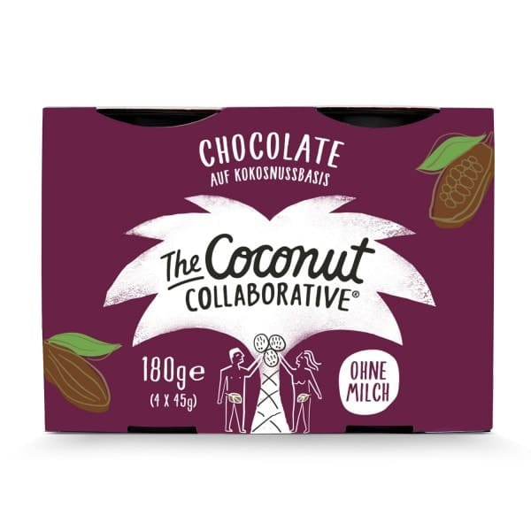 The Coconut Collaborative COCONUT DESSERT chocolate, 4x45g