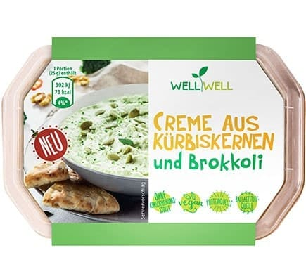 Well Well CREME FROM PUMPKIN SEEDS and broccoli, 125g