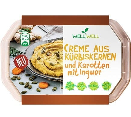 Well Well CREME FROM PUMPKIN SEEDS and carrots with ginger, 125g