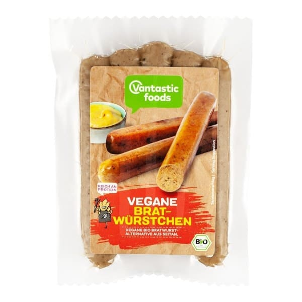 Vantastic foods VEGAN FRYING SAUSAGES, organic, 200g