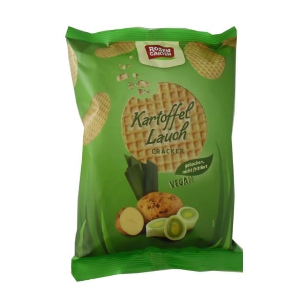 Rosengarten CRACKER potato leek, organic, 60g