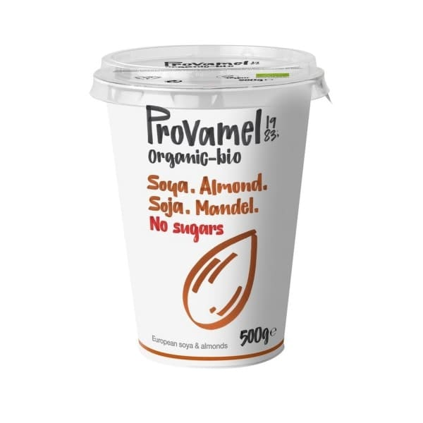 Provamel YOGHURT ALTERNATIVE SOYA-ALMOND without sugar, organic, 500g