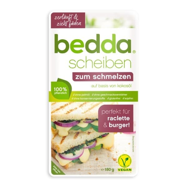 bedda SLICES for melting, 180g